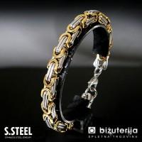 Mr. CAPTAIN GOLD Stainless Steel Bracelet 8 x 230 mm  M-604